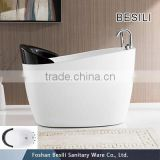 Freestanding baby bath tub with stand, short bathtub