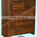 drawer chest,bedroom furniture,home furniture,wooden furniture, chest of drawers,indian wooden handicraft,shesham wood furniture
