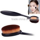 Cosmetic Makeup Face Powder Blusher Toothbrush Curve Foundation Brush, Oval Makeup Brush Beauty Cosmetics