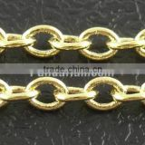 Thin Brass Cable Link Cross Jewelry Chains(CH038-G)