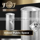 Industrial Metal Disposable Waste Bins Metal Round Containers Trash
