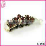New Fashion stone Classical Barrette Banana hair clips with rhinestone duck hair clips
