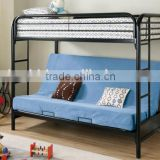 2015 with blue color sofa black bunk bed
