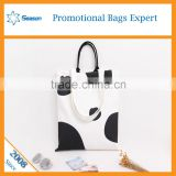 Custom logo print cow color promotional tote bag cotton canvas shopping bag                                                                                                         Supplier's Choice