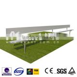Simple Ango fixed, portable, pernanent metal bleacher, bench,Tip-N roll bleacher, with plastic seats