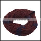 new casual style New design scarf High Quality fashionable lady headwear made in china 100% acrylic knitted infinity scarf
