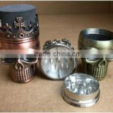 Grinder King Crown Skull Herb Spices Weed Tobacco Pollen Catcher Seeds Cigarette Grinder                                                                         Quality Choice