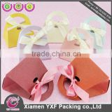Wholesale Cheap Laser Cut Paper Wedding Favor Candy Box in Xiamen