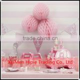Baby Pink Honeycomb Ball Paper lanterns Hanging Wedding Party Decorations
