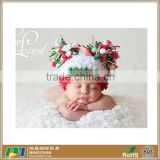 Christmas Baby Boy Girl Crochet Hat With Pom Pom For 0-12Months