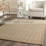 Plain pattern machine made sisal carpet living room area rug
