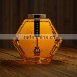 Hot-selling Fancy hexagon honey glass jar -new product
