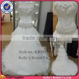 2105 Kelly newest style fashion design Luxurios beaded top and layer skirt wedding dresses turkey
