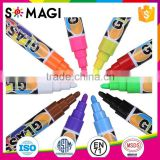 dust free liquid chalk - imported ink fluorescent pen, multi color reversible tip marker