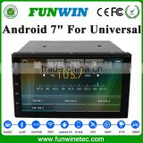 "Funwin 7"" Android 4.4.2 car multimedia system 2 din car navigation system radio gps playstore for Universal"
