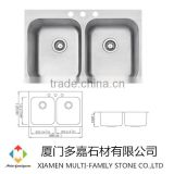 Custom made Stainless Steel Sink Double Bowl sink topmount stainless steel kitchen sink TD-08