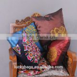 Diferent flower embroidery cushions/sofa pillowcase/car seat plain square cotton throw pillow cover