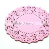 "NEW Party Packaging 4.5"" Pink Round Paper Doilies kids Birthday Party Supplies"