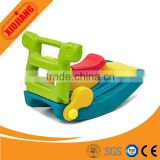 Indoor outdoor soft play toy plastic rocking horse for baby and kids