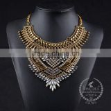 high quality vintage rhinestone chunky statement necklace tin alloy fashion women pendant necklace 6390146