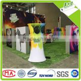 100 poyester knit white table throw fabric for dye sublimation