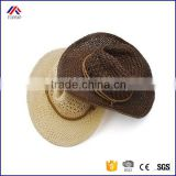 Summer Style Straw Cowboy Hat Unisex Hollow Western Hats 2016 Beach Felt Sunhats Party Cap for Man Woman
