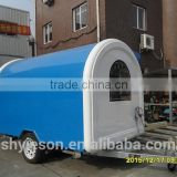 CEO Friendly fast food mobile kitchen trailer bakery food cart with electricity layout/ CE passed concession trailer mobile food