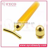 New Products home use vibration facial T-shape Beauty Bar Skin Care 24k Gold Bars massager