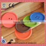 Good Quality creative household supplies round silicone coasters cute button coasters Cup mat