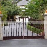 Ornamental hot sales dip galvanized/wrought iron arched Gates/swing gate/walk security Gates with competitive price
