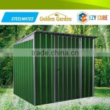 Water resistance garden shed 2015 bset selling for storing tools with colour coated steel sheet cover