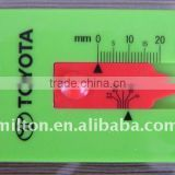 Plastic Tyre thread depth gauge