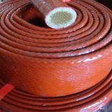 Silicone coated glass fiber fire sleeve hose protector