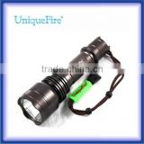 UniqueFire Cree XML U2 LED 1200lumens Bright Light Led Torch with full set(18650 battery&charger)