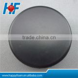 Black PU Raw material custom logo printed ice hockey puck ball for relieve stress