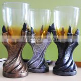 UCHOME New Style 3D Dragon Claws Resin with Glass Goblet, Cool Design Whisky Tumbler / Beer Cup