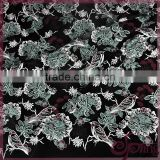 Vivid floral birds and applique dragonfly embroidery tulle lace 3d lace fabric for dress
