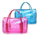 Fashion Summer Beach Bag Outdoor Waterproof Clear Transparent PVC Cosmetics Bag Cosmetic Organizer Makeup Toiletry Bag