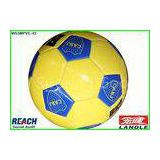 31 Panel Rubber Full Size Soccer Ball Yellow Footballs For Promotion