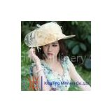 handmade Party / Wedding ladies straw hat With Big Flowers Fascinator