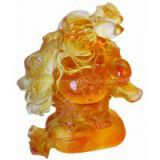 crystal crafts--the happy buddha statue