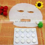 Tencel Moisturising Invisible compressed nonwovens one time used facial mask for diy