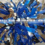 metallic cheerleading pom poms