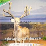 KAWAH Life-Size Christmas Animal Statue Waterproof Realistic Animatronic Reindeer Model For Sale