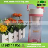 PP Grade Double Wall Thermal Keeping Warming Plastic Tumbler With Glass Inner Handles Strainer Straw