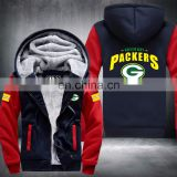 American Football Uniforms Green Bay Jersey and Thicken Winter Jacket