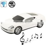 B1 Car Shape Blue tooth Stereo Speaker Support USB Flash Driver / AUX-input / Mode Indicator (White)