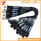 Wholesale custom silkscreen printing polyester lanyard lanyard with card holder / medal / badge reel