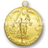 Ironman 3D Custom Gold Sport Award Medal Medallion
