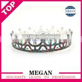 China factory price round rhinestone crystal circle crown Manufacturers